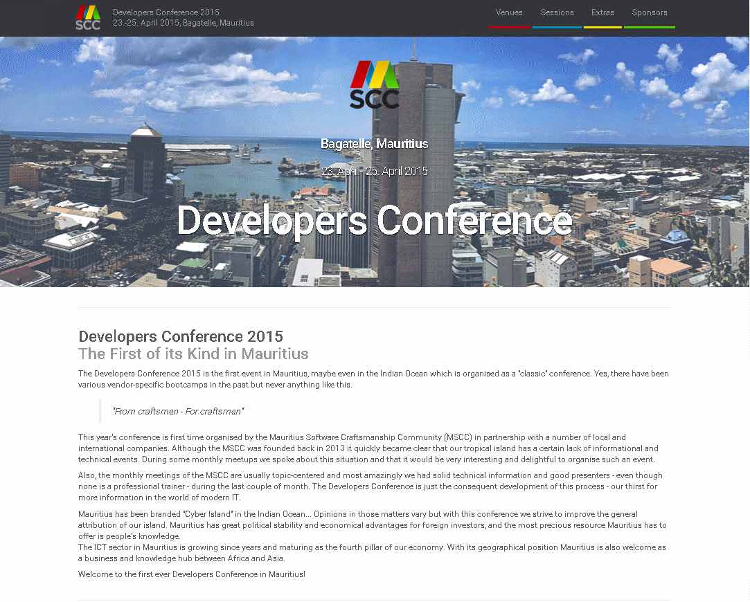 Preparations for Developers Conference 2015