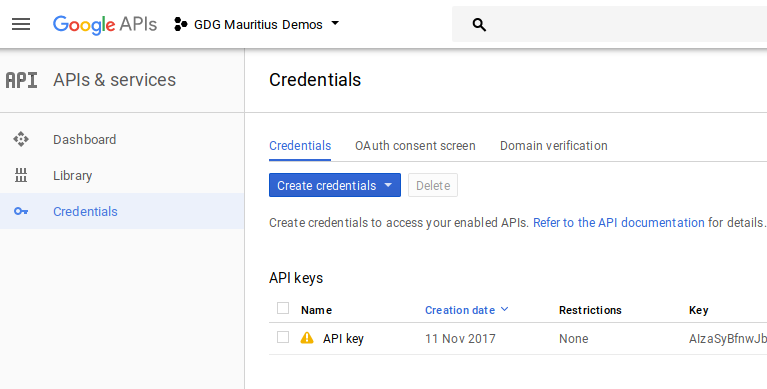 GoogleApiConsoleCredentials