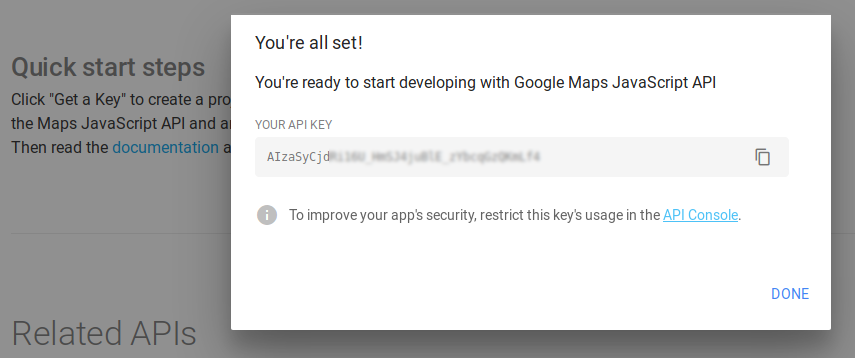 Get your API key