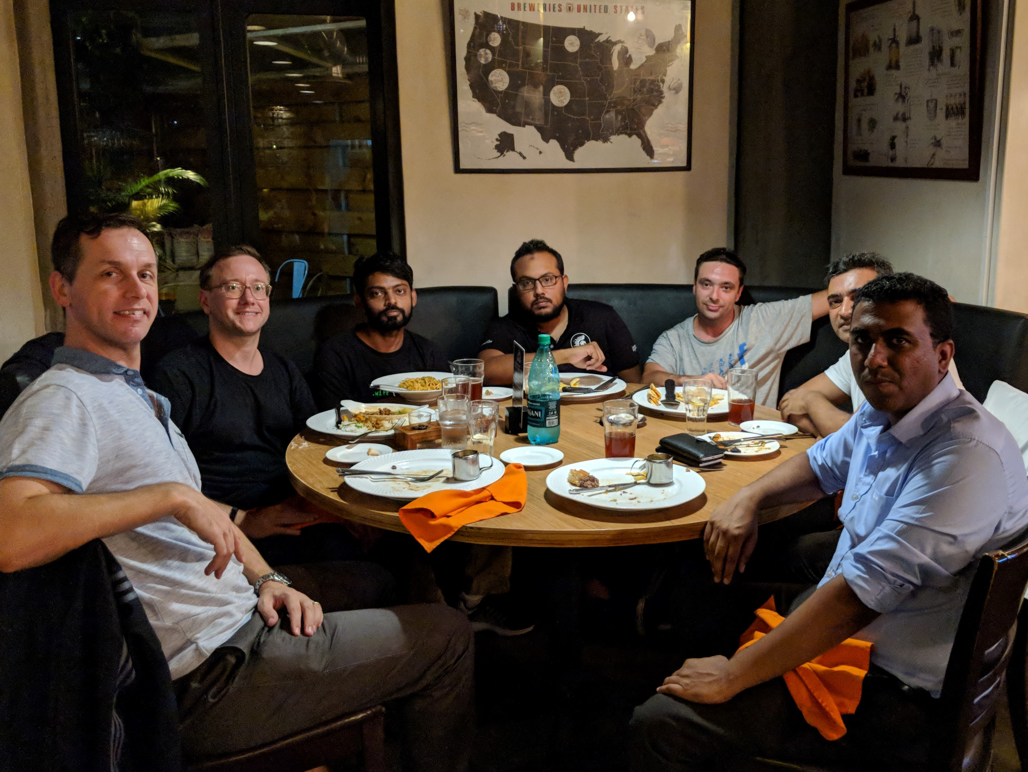 Dinner with Andy Volk and various organisers of local user groups in Mauritius