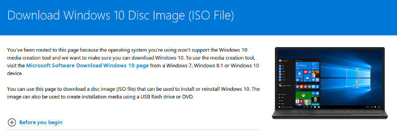 Download Windows 10 ISO file directly from Linux or macOS