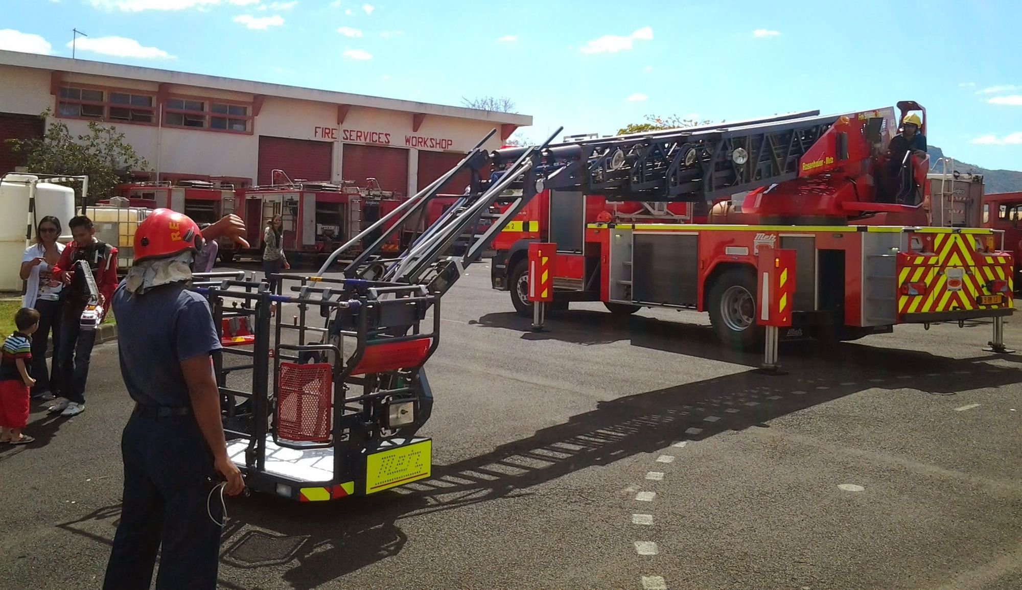 Visiting the Fire Station in Coromandel